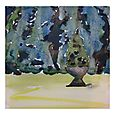 Outremont Tree Potted, 8x8, watercolour Sep 24/10