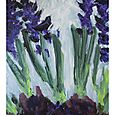 Provigo hyacinths, in acrylics, 8x10, acrylic, March 4/11