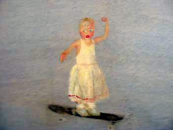 Boarder Baby, oil on wood, 2004