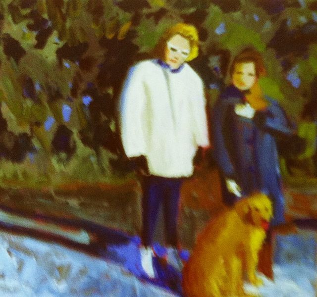 Two Joans + a Tammy, oil on canvas, 2012
