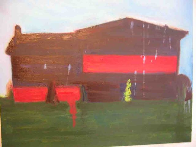 Red Burbs, oil on canvas, 48x60, 2005