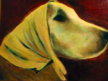 Scout, oil on canvas, 24,x30, 2004