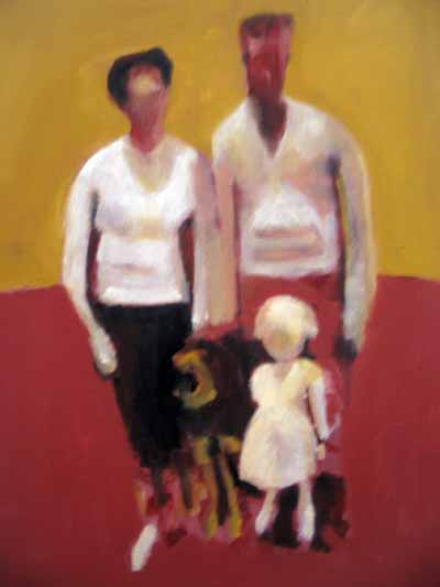 Swiss Family Rey, oil on canvas, 2007