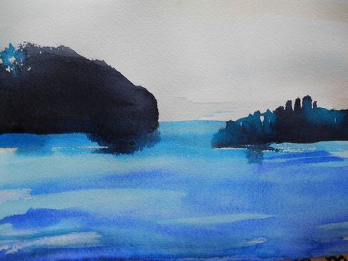 Island from the islands, watercolour, 2011