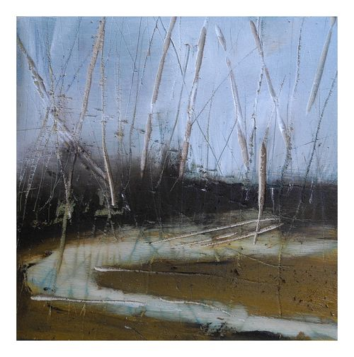 The Anselm Kiefer time of the year, oil on wood (incised)10x10, April 2/10